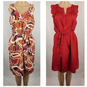 👗👗 Banana Republic 2 Wrap Dresses Bundle